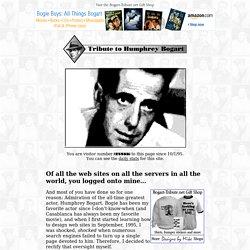 Tribute to Humphrey Bogart