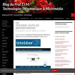 Tricider : outil de brainstorming