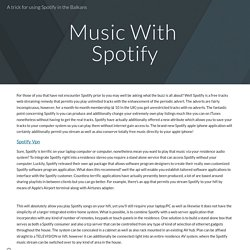 A trick for using Spotify in the Balkans