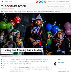 Tricking and treating has a history