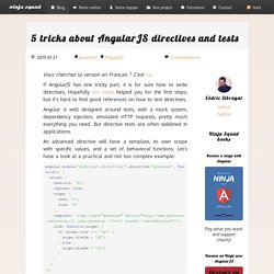 5 tricks about AngularJS directives and tests - Ninja Squad