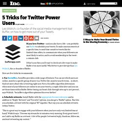 5 Tricks for Twitter Power Users