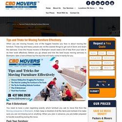 Moving Companies in Brampton