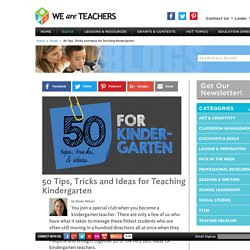 tips and tricks for kindergarten teachers lesson plan ideas