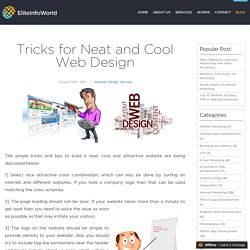 Tricks for Neat and Cool Web Design