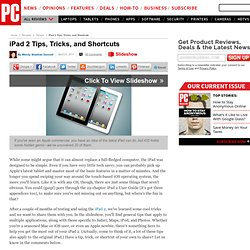 iPad 2 Tips, Tricks, and Shortcuts - Keep a Low Location Profile - Slideshow from PCMag.com