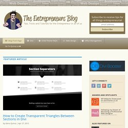Blog - Tips Tricks & Tutorials for the Entrepreneur