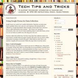 Tech Tips and Tricks: Using Google Forms for Data Collection