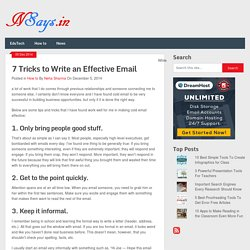 7 Tricks to Write an Effective Email - NSays.in