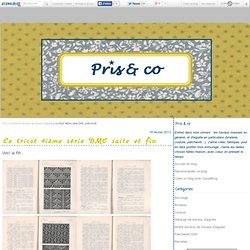 Le tricot 4iéme série DMC suite et fin - Pris & co