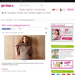 Tricot : un pull cocooning juste pour moi !
