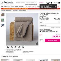 Plaid de lit façon tricot point de riz, cho La Redoute Interieurs