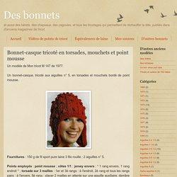 Bonnet-casque à torsades