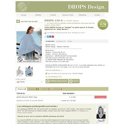 """Châle DROPS tricoté en """"Delight"""" en point ajouré. À tricoter également en """"Baby Merino"""""""