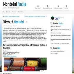 Tricoter à Montréal