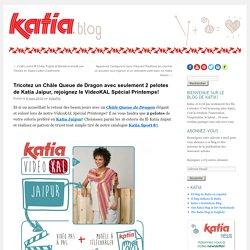 Tricotez un Châle Queue de Dragon avec 2 pelotes de JaipurFils Katia – Blog