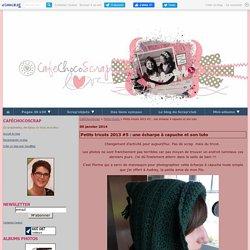 Petits tricots 2013 #5 : une écharpe à capuche et son tuto - CaféChocoScrap