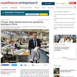 Tricots. Saint-James ouvre une quatrième boutique à Paris