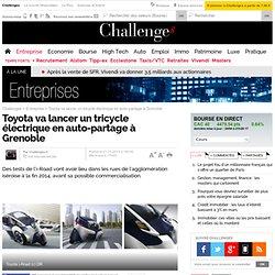 Toyota va lancer un tricycle électrique en auto-partage à Grenoble