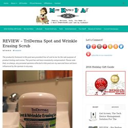 TriDerma Spot and Wrinkle Erasing Scrub