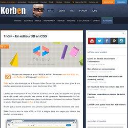 Tridiv - Un éditeur 3D en CSS « Korben Korben