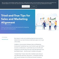 10 Tried-and-True Tips for Sales and Marketing Alignment