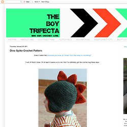 The Boy Trifecta: Dino Spike Crochet Pattern