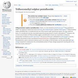 Trifluoromethyl sulphur pentafluoride