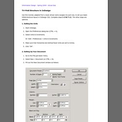 Trifold Brochure Tutorial
