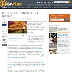 Brain Zaps Can Trigger Lucid Dreams