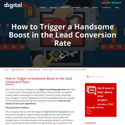 How to Trigger a Handsome Boost in the Lead Conversion Rate