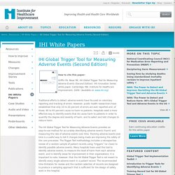IHI Global Trigger Tool for Measuring Adverse Events (Second Edition)