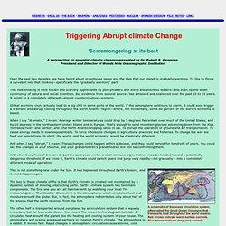 Triggering Abrupt Climate Change