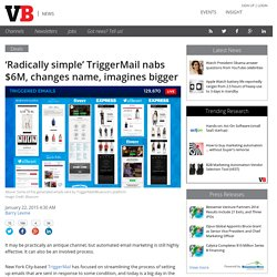 'Radically simple' TriggerMail nabs $6M, changes name, imagines bigger