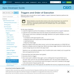 Triggers and Order of Execution