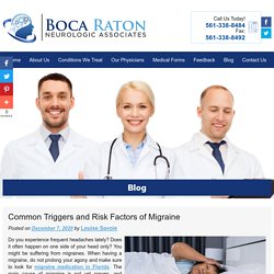 Common Triggers and Risk Factors of Migraine