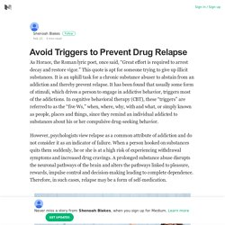 Avoid Triggers to Prevent Drug Relapse