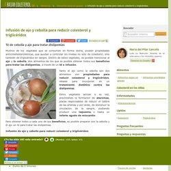 Infusión de ajo y cebolla para reducir colesterol y triglicéridos - aBajarColesterol.com