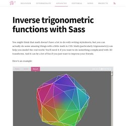 Inverse trigonometric functions with Sass
