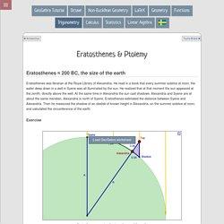 Trigonometry - Eratosthenes & Ptolemy