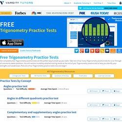 Free Trigonometry Practice Tests