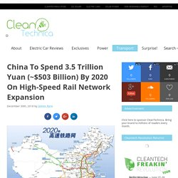 China Expands High-Speed Rail Network to 30,000km