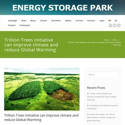 Trillion Trees Initiative can improve climate and reduce Global Warming – Greening Deserts