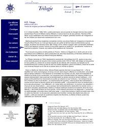 """H.D., Trilogie, """"série américaine"""", éditions Corti, 2011"""