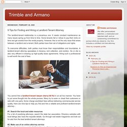 Trimble and Armano: 9 Tips for Finding and Hiring a Landlord-Tenant Attorney