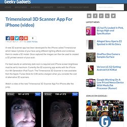 Trimensional 3D Scanner App For iPhone