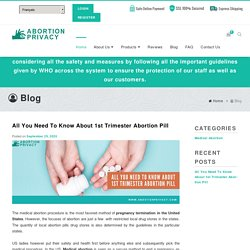 All You Need To Know About 1st Trimester Abortion Pill