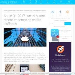 Apple Q1 2017 : un trimestre record en terme de chiffre d'affaires ! - AppleiGeek.com