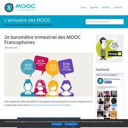 2e baromètre trimestriel des MOOC Francophones