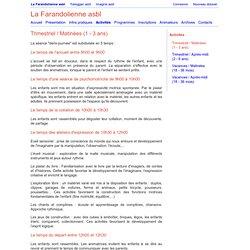 Trimestriel / Matinées (1 - 3 ans)